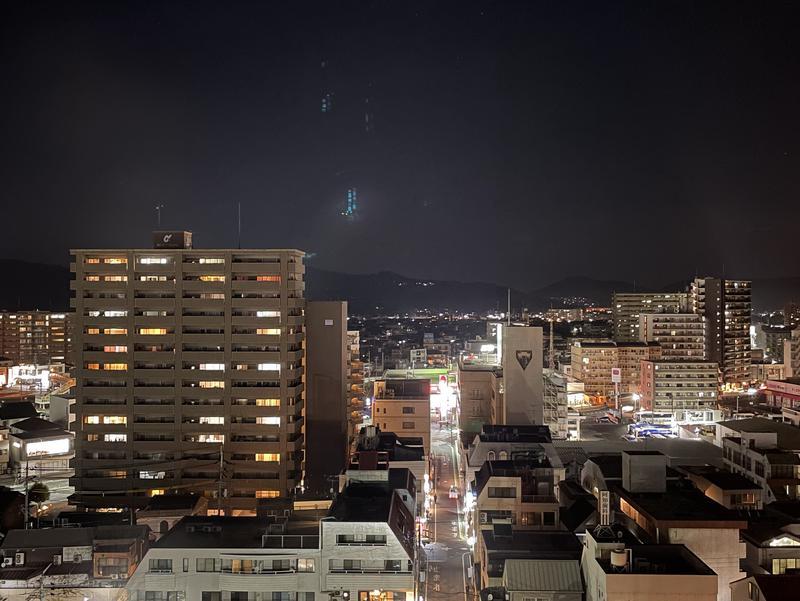 ロイヤルパークホテル倉敷 11Fラウンジからの夜景