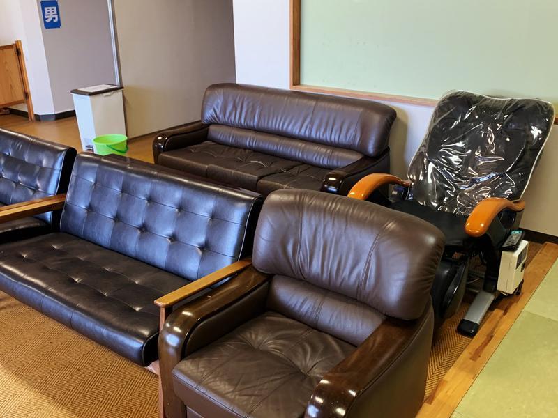 ひかりランド 南星の湯 ロビーのソファー