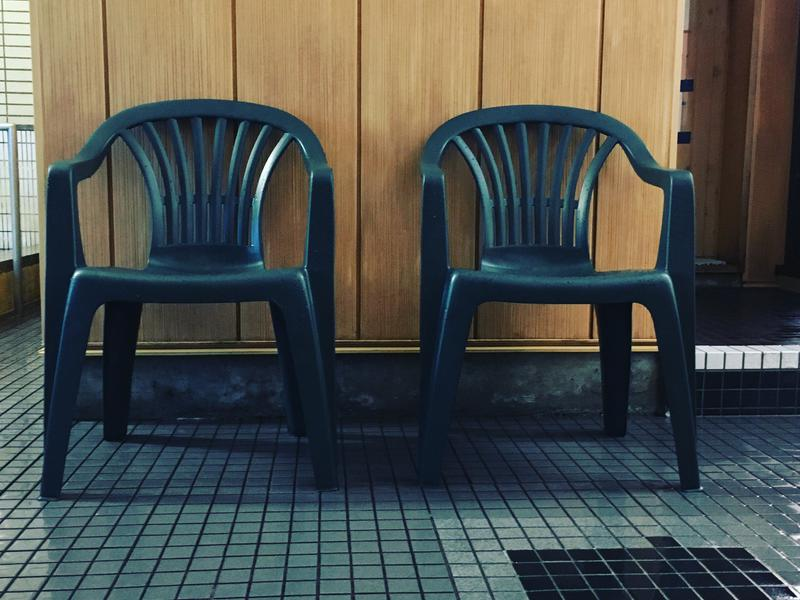 ひかりランド 南星の湯 浴室内の休憩椅子