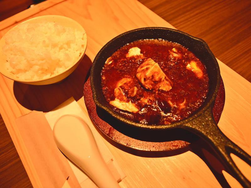 朝日湯源泉ゆいる ゆいる特製すくい麻婆豆腐(激辛)