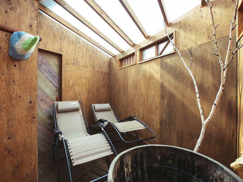 tabi-shiro sauna  (宿とサウナとジェラート) 外気浴