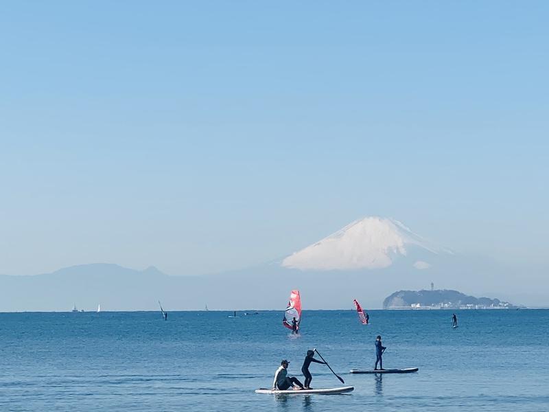 SHONAN BEACH SAUNA (湘南ビーチサウナ) 天気が良ければ富士山も見えます!