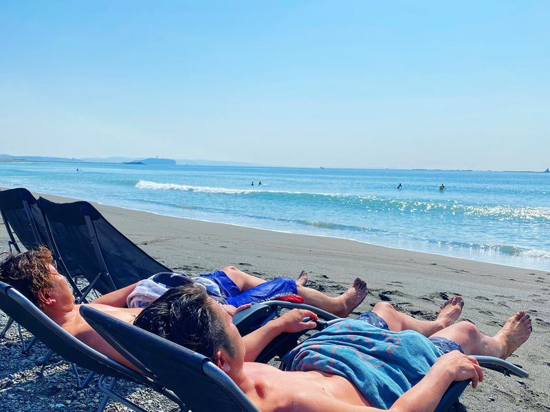 SHONAN BEACH SAUNA (湘南ビーチサウナ) 波の音を聞きながらの外気浴
