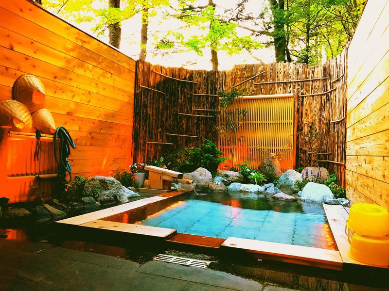 天空のサウナ 梅の屋リゾート 松川館 貸し切り露天風呂