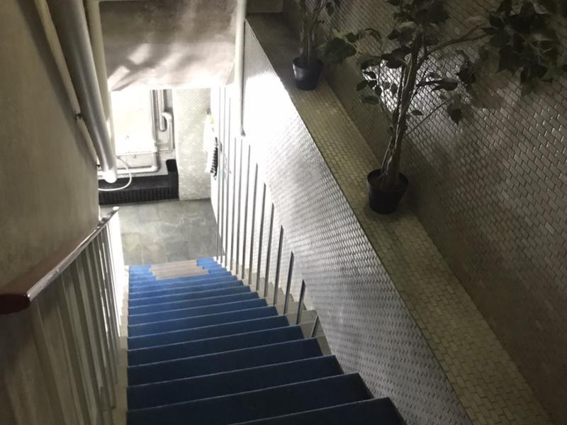 旅館 松岡サウナ 浴室に向かう階段