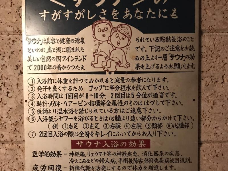 旅館 松岡サウナ レトロな看板