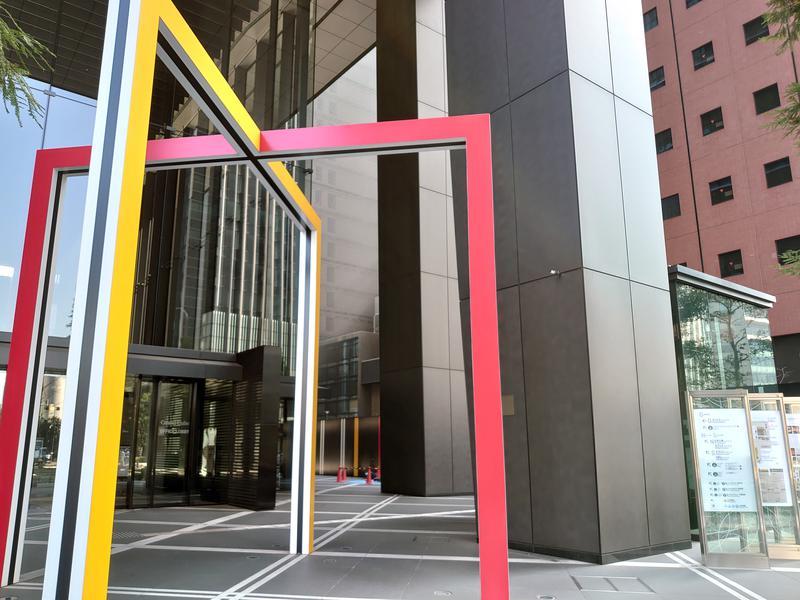 SPA大手町 FITNESS CLUB 地上から行くなら、このオブジェが目印。大手町駅、東京駅の地下直結。