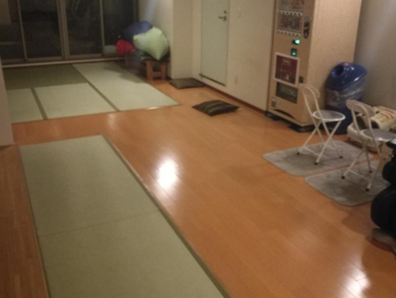 武蔵小山温泉 清水湯 2Fの畳の休憩室