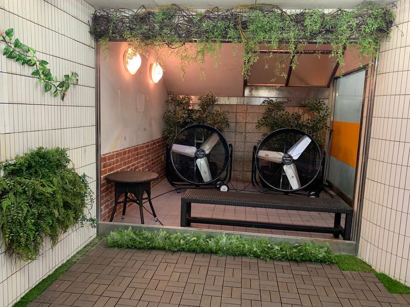 カプセルイン蒲田 ガーデンサウナ蒲田 浴室内休憩スペース