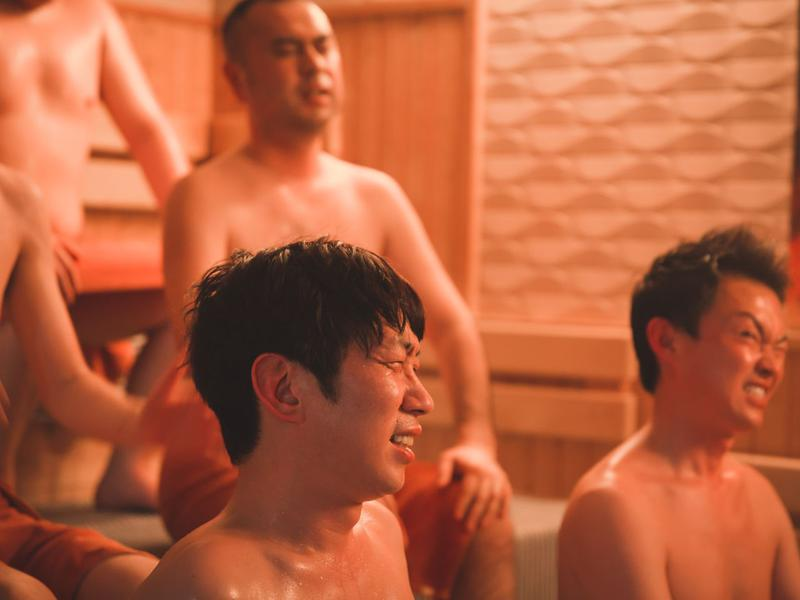天然温泉 満天の湯 サウナ室