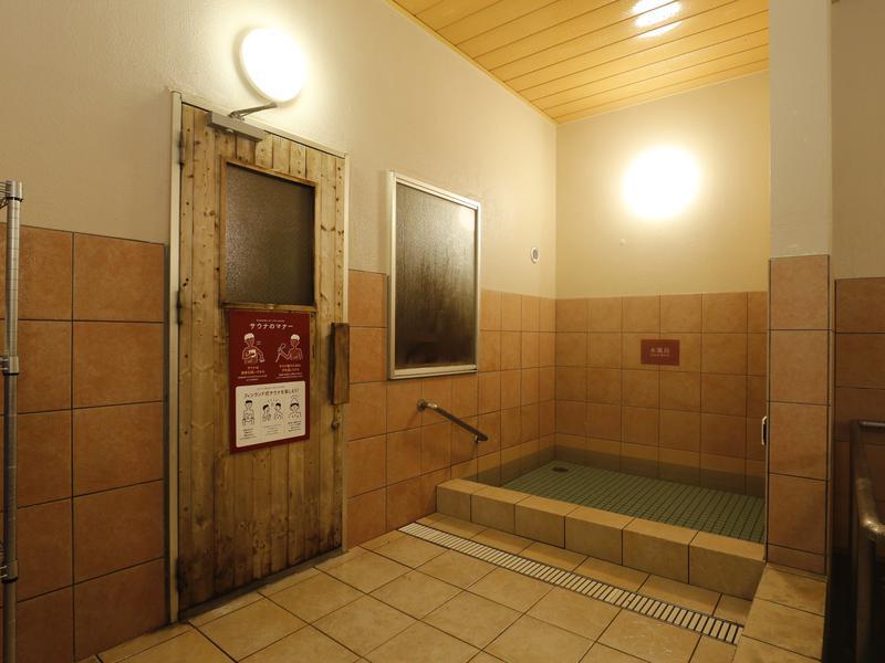 十勝川温泉 観月苑 水風呂は清流札内川の伏流水