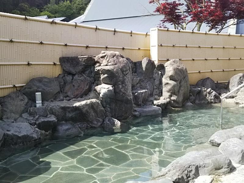 万葉薬湯 大宇陀温泉 あきののゆ 露天岩風呂