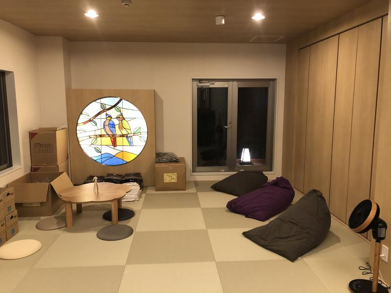 松本湯 琉球畳の休憩スペース