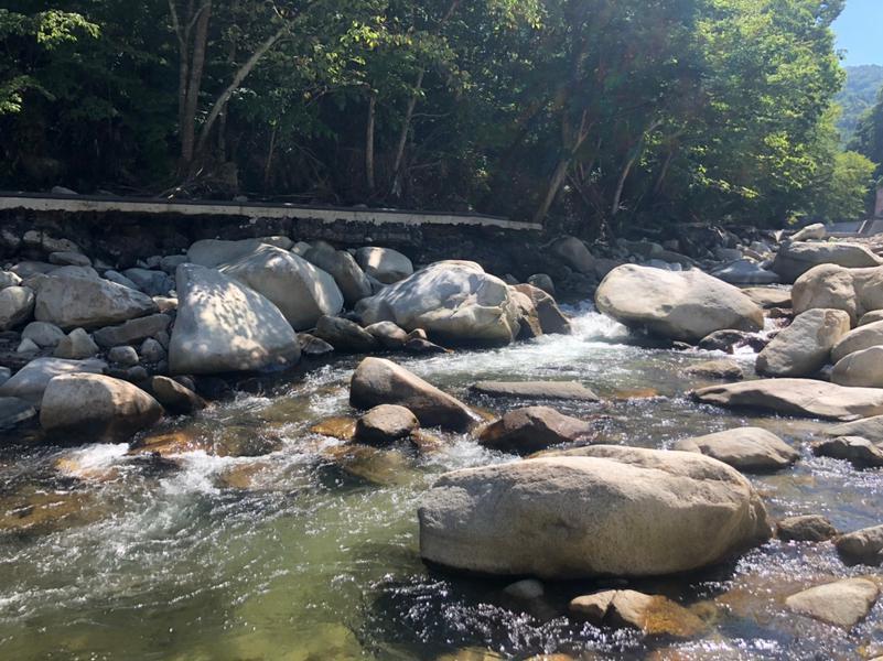 MARUMORI SAUNA 被災後の外気浴スペース