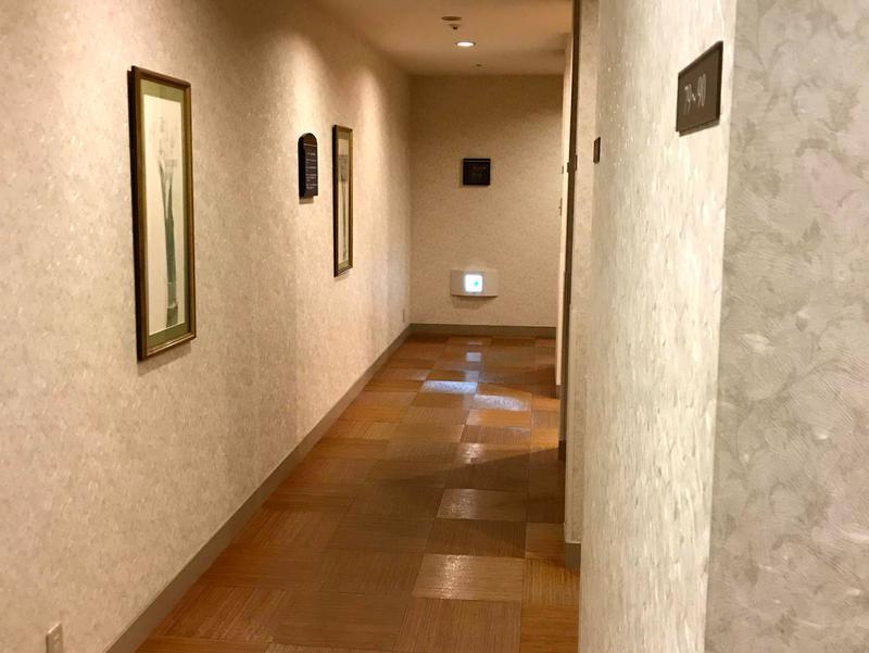 グランドエクシブ軽井沢 サウナ室廊下