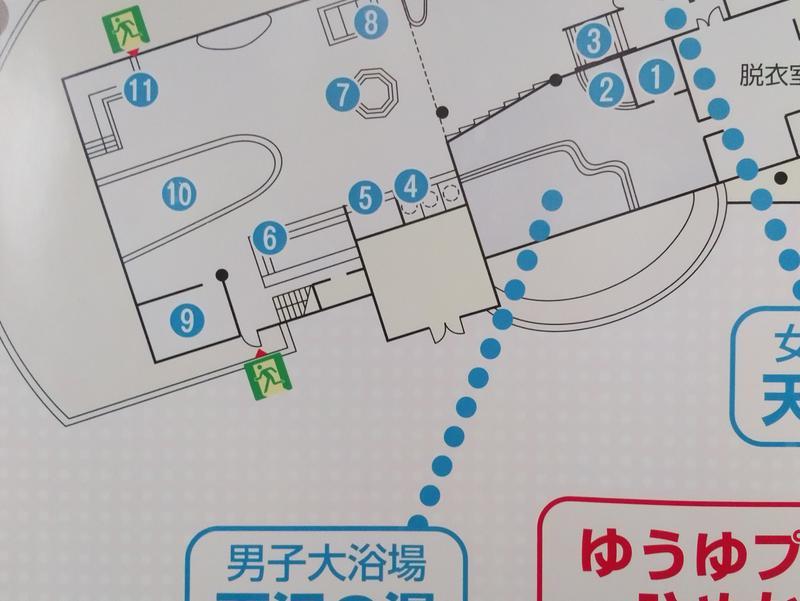 焼石クアパーク ひめかゆ 大浴場(日帰り棟)見取り図