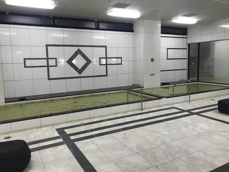 天然温泉 有馬六ツ門の湯(グリーンリッチホテル久留米) 浴室内(男湯)