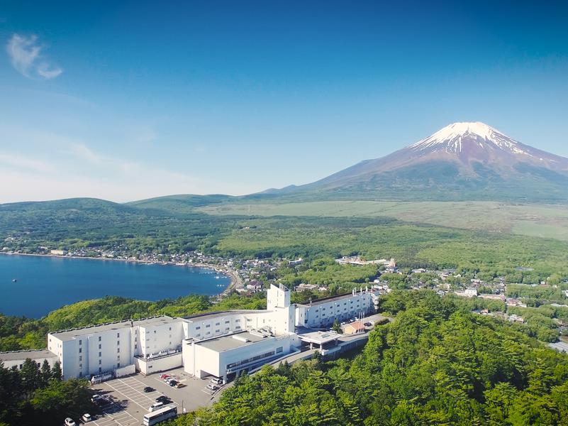 ホテルマウント富士 立地(標高1100m)※富士山を見る為に建てられたホテル。