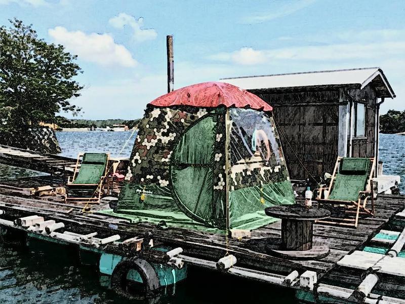 イカダの上のおでん屋台&海上サウナ( 一日一組) 写真