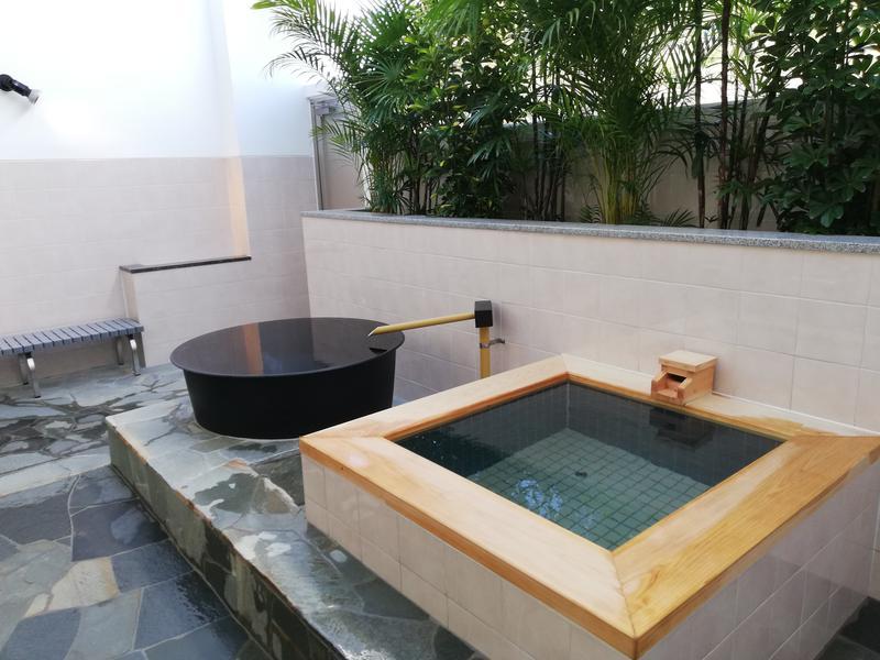 鹿児島温泉 時之栖(ときのすみか) 露天檜風呂水風呂