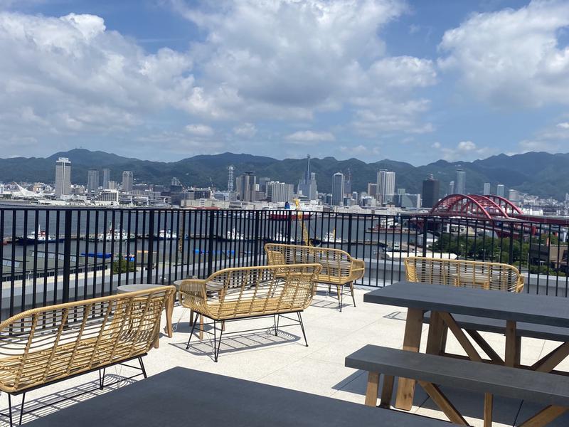 サウナリゾートオリエンタル神戸 (センチュリオンホテル ヴィンテージ神戸) 屋上スカイテラスからの景観