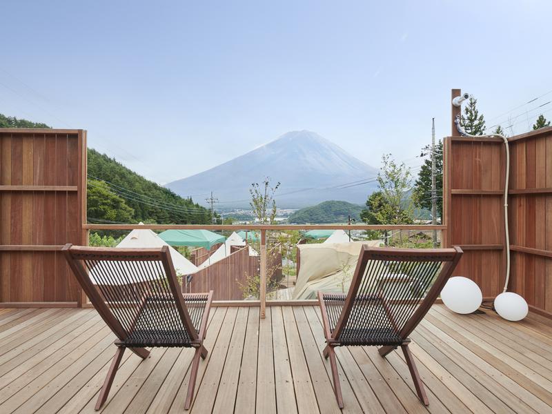 Dot Glamping 富士山 外気浴スペース