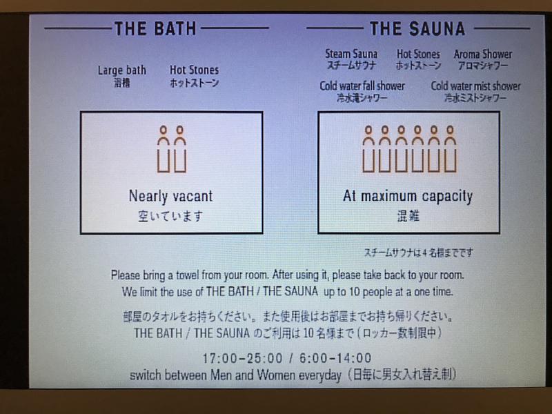 sequence KYOTO GOJO 部屋で混雑状況を確認可能