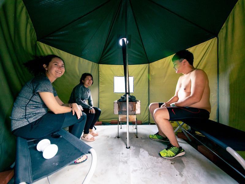 宿泊型コワーキングスペース 五番地 Savotta製テントサウナを取り扱いしています。